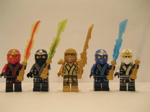 LEGO® 2013 Ninjago Kimono Ninja's - Set of 5 - Cole, Jay, Kai, Golden Lloyd, & Zane (Lego-sets Golden Ninjago Ninja)