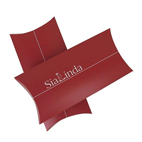 SiaLinda: Pompadour Tasche, verschiedene Farben außen / schwarz innen, Satin. Beuteltasche Damen Zugbeutel. Inkl. Geschenkverpackung. Made in Germany. Schwarz