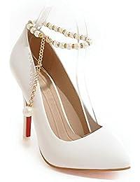 MEI&S La mujer Toe puntiagudas Stiletto boca superficial Prom boda zapatos de tacones altos tribunales bombas