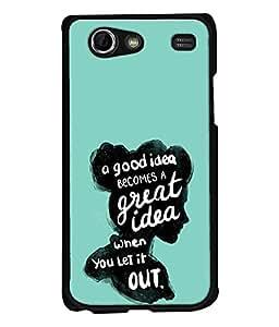 FUSON Designer Back Case Cover for Samsung Galaxy S Advance i9070 (Good Idea Great quote Success Quote)