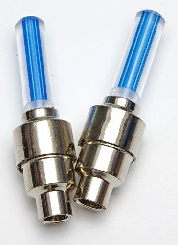 2-LED-Ventilkappen-fr-Felge-Speichenlichter-leuchtend-blau