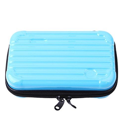 VWH Trousse à Maquillage de Voyage Trousses de Toilette Maquillage Sac Cosmétique Cas de Toilette en Forme de Valise (Bleu)