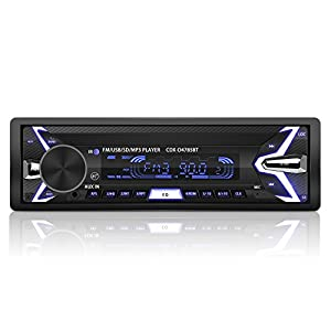 YOHOOLYO Autoradio Bluetooth Poste Radio Voiture Auto Radio Amovible Adapteur ISO Support USB SD MM AUX MP3 MP4 MP5 Téléphone FM Stéréo Hi-FI de YOHOOLYO