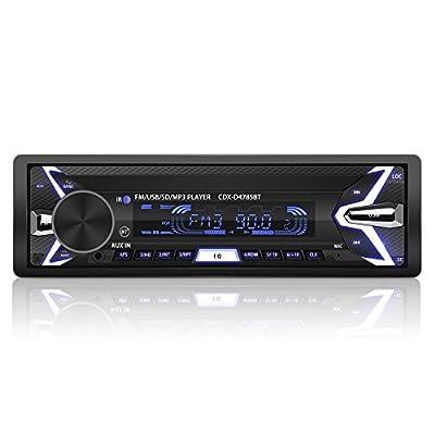 Autoradio Bluetooth Poste Radio Voiture Auto Radio Amovible