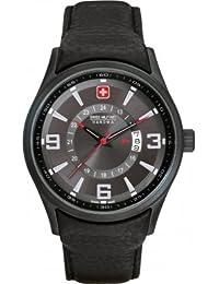 Swiss Military Hanowa Herren-Armbanduhr XL Analog Quarz Leder 06-4155.13.007