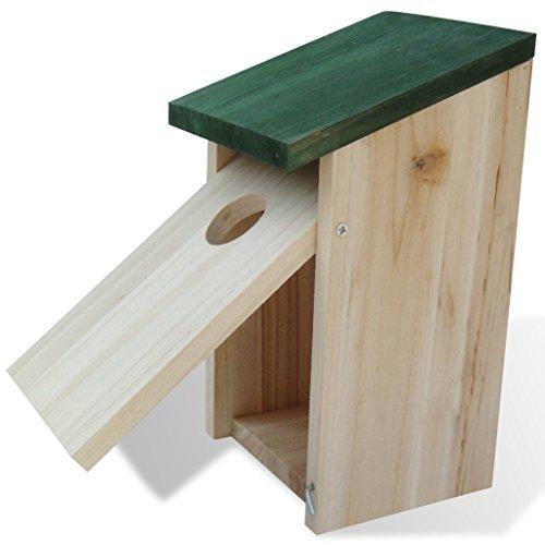 vidaXL 4x Vogelfutterhaus Futterhaus Vogelhaus Futterstelle Nisthaus Nistkasten Holz - 3