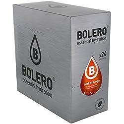 Paquete de 24 sobres bebida Bolero sabor Naranja Roja