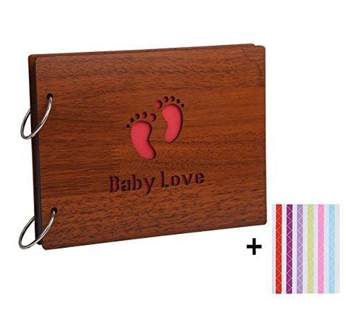8 X 6 Zoll kreatives hölzernes DIY Foto-Album-Einklebebuch-Aufkleber-Geschenk Gedächtnis-Liebe (Baby Love)