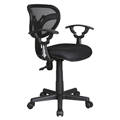 Black Adjustable Gas Lift Mesh Back Swivel Computer Desk Office Furniture Chair - inexpensive UK light shop.