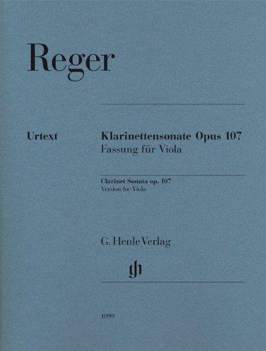 Klarinettensonate op. 107: Fassung für Viola