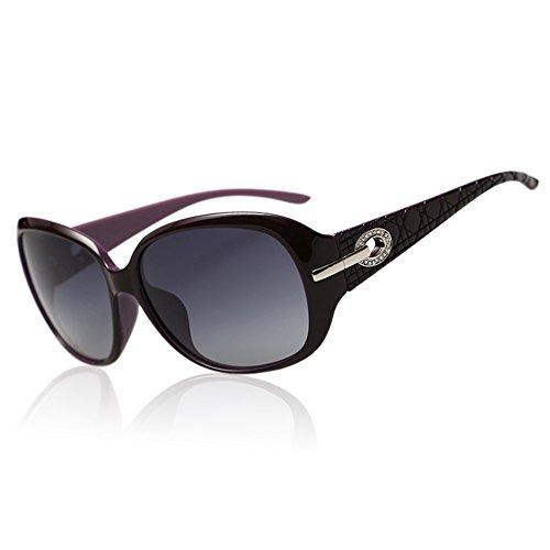 Duco Klassische Damen Sonnenbrille Polarisiert Modische 100% UV-Schutz 6214 (Lila)