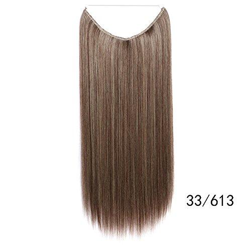 XY Fancy Damen Herren Angelschnur gerade Haarteil Perücke Haar Stück 33/613 (Poison Ivy Kostüme Perücke)