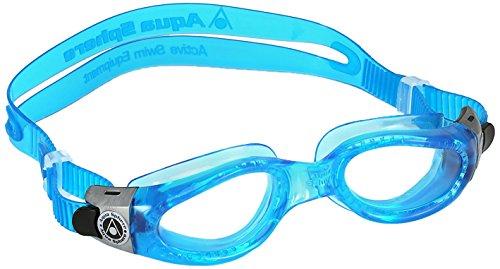 Aqua Sphere Kaiman-Schwimmbrille, ideal zum Schwimmen und für Wassersport, blauer Rahmen (Workstation-kabel-tastatur)
