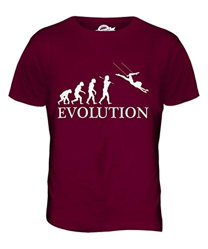 CandyMix Trapez Evolution Des Menschen Herren T Shirt Burgunderrot