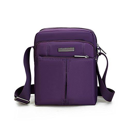 90599087ea5ab Outreo Umhängetasche Vintage Messenger Bag Sport Schultertasche Retro  Herrentaschen Kuriertasche Herren Taschen für Reisen Lila