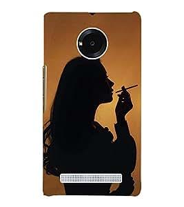 Girl Smoking 3D Hard Polycarbonate Designer Back Case Cover for YU Yunique