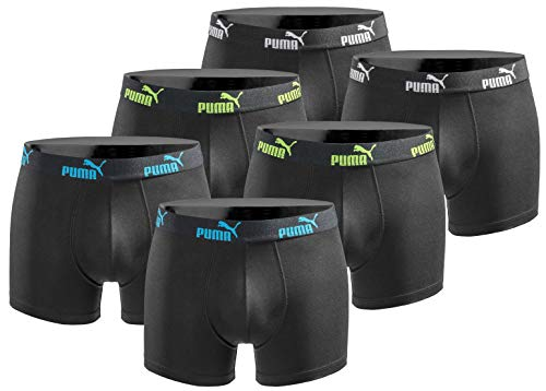 Puma Boxershort 6er Pack Herren Basic Black Limited Edition - Action Triple Black - Gr. M -