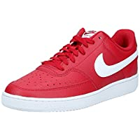 Nike Court Vision Lo, Mens Shoes, Red (Gym Red/White), 45 EU