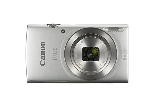 Canon IXUS 185 Digitalkamera (20 MP, 8x optischer Zoom, 6,8cm (2,7 Zoll) LCD Display, HD Movies) silber