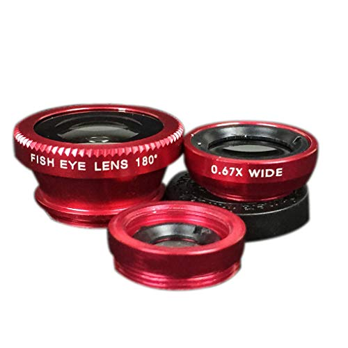 F-blue 3 in 1 Handy-Objektiven Fisch-Augen-Weitwinkel-Makro-Kamera-Objektiv-Set Universal Clip Foto-Zubehör