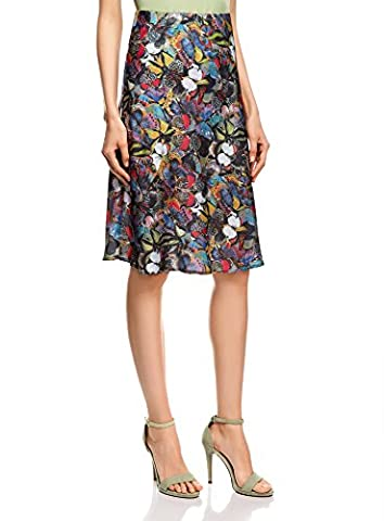 oodji Collection Women's Light Printed Skirt, Multicoloured, UK 12 /