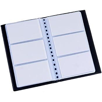 Visitenkartenmappe für 144 Karten schwarz Aufbewahrung Ordnung Idena 567042