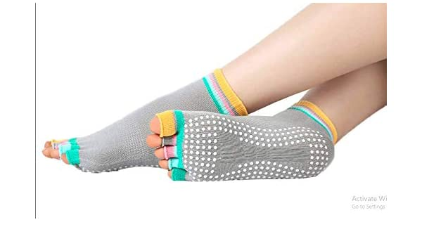 Yoga Socks Sport Fitness Pilates Socks Five Toe No-Slip Massage Warm UK STOCK