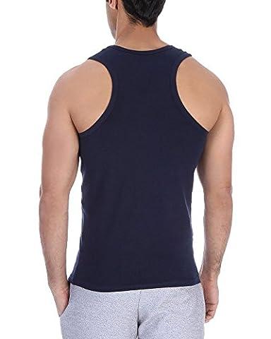 Original Solo®, Feel Comfortable, Cross-Sportliches Herren TankTop. Stretch. Elastisch unterhemd. Slim-fit t-shirt. Farben & Größen, Rocer Back Undershirt (XL, Navy)