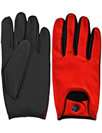 Men's Chauffeur Classic English Leather Fashon Dress Driving Motorbike Soft Leather Gloves