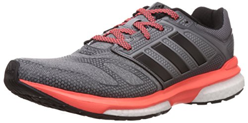 adidas Men's Revenge Boost 2 M Techfit Grey, Black and Red Mesh Running Shoes - 6 UK  available at amazon for Rs.6999