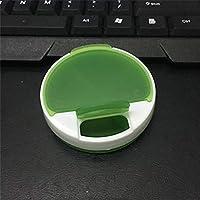 GOOTUOUOU Gootuouu Pillendose mit 4 Fächern für Medikamente, drehbar, wasserfest, Plastik, Green,Green, 6.5x2cm preisvergleich bei billige-tabletten.eu