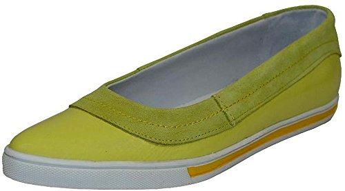Velvetred Slipper Rind Velour Lack Leder gelb Gelb