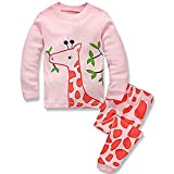 Mädchen Jugend Schlafanzug ungen Schlafanzug Langarm Kinder Nachtwäsche Pyjama Sets Baumwolle Kleinkind Nachtwäsche T Shirt+Hosen Pullover Oberseiten Ausstattungs beiläufiges gesetztes lange Hülse