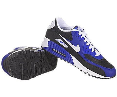 Nike Jungen Air Max 90 (GS) Laufschuhe, Schwarz / Weiß / Blau (Schwarz / Weiß-Hyper Blau-Weiß), 37 1/2 EU -