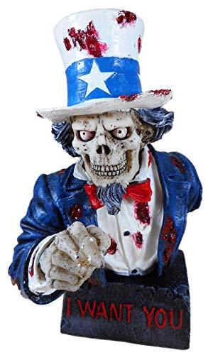 Skelett Uncle Sam Büste 20 x 16 cm I Want You USA Figur Deko GV 766-6806