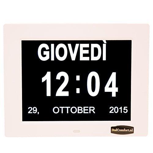 Orologio da tavolo con calendario | orologio per persone che soffrono di alzheimer | orologio per anziani