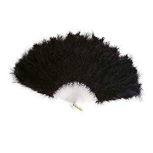 WIDMANN Boland Pluma Fan Negro Accesorio para el vestido de lujo