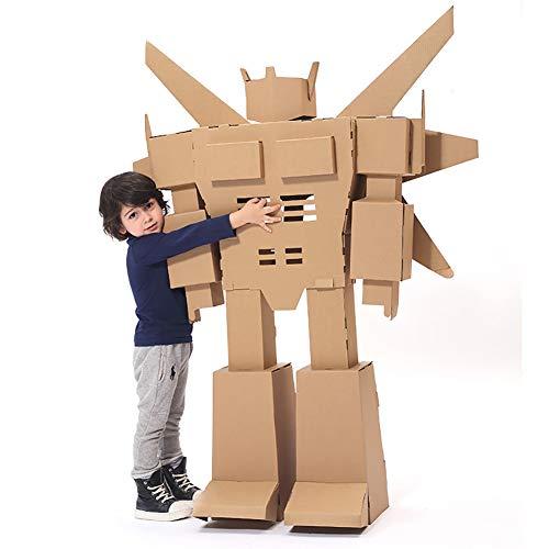 Eigenen Kostüm Ihre Spiel Sie Erstellen - ROCK1ON DIY Doodle Karton Spielhaus Kinder Roboteranzug Rollenspiel Pappe Spielzeug Färbung Malen Indoor Im Freien Kreatives Weihnachten Alter 3-13