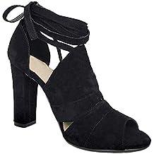 Tom Mujer Zapatos es Amazon Mine Fiesta Tacon Medio 1BPKH6qw