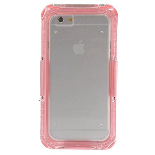 wkae Schutzhülle Case & Cover IP68wasserdichte Schutzhülle mit Lanyard für iPhone 6& 6S rose