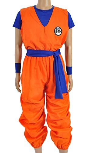 Kinder Kostüm Schildkröte - OLLOLCCY Drachenball 3 Teiliges Son Goku Cosplay Kostüm,Drachen Ball Kinder Kostüm, Son Goku Trainings Anzug Beim Herr Der Schildkröten,Gelb,S