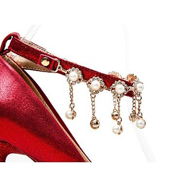 Moda Donna Sandali Sexy donna tacchi Primavera / Estate / Autunno / Inverno tacchi / Piattaforma / pompa di base / Comfort / Novità Red