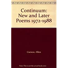 Continuum: New and Later Poems; 1972-1988