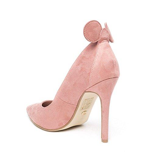 Oreilles Shoes Avec Rose Minnia Escarpins Daim Souris Effet Ideal De XqXpaB