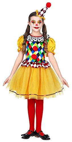 Karneval-Klamotten Clown Kostüm Kinder Mädchen Clownskleid mit