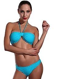 ZLZ-Traje de baño Trajes de Baño Luz Púrpura Moda Amantes de Acero Bikini Traje de Baño de Dos Piezas (Color : Purple, Tamaño : XL)