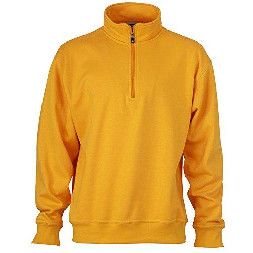 James & Nicholson - Workwear Half-Zip Sweatshirt gold-yellow