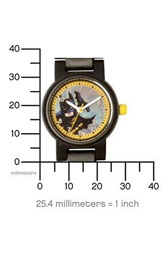 LEGO Batman Movie Batman Kids Minifigure Link Buildable Watch   black/yellow   plastic   28mm case diameter  analogue quartz   boy girl   official
