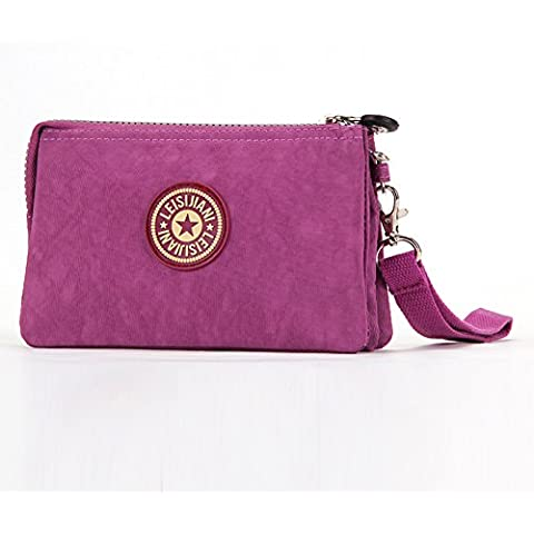 foru Bolsa Bolso para mujer Mini Outdoor Bolsa Make Up Cartera 14colores para la elección, mujer, Purple Red, mini