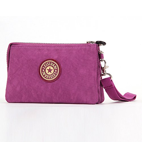Dq li da donna viola rosso borsa Mini Outdoor Borsa Make Up portafoglio